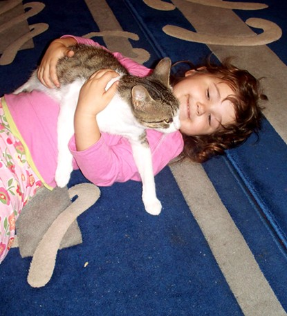 Briana and her new cat